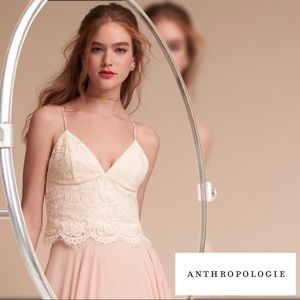 🆕 Anthropologie BHLDN Pippa Top Ivory Size 4